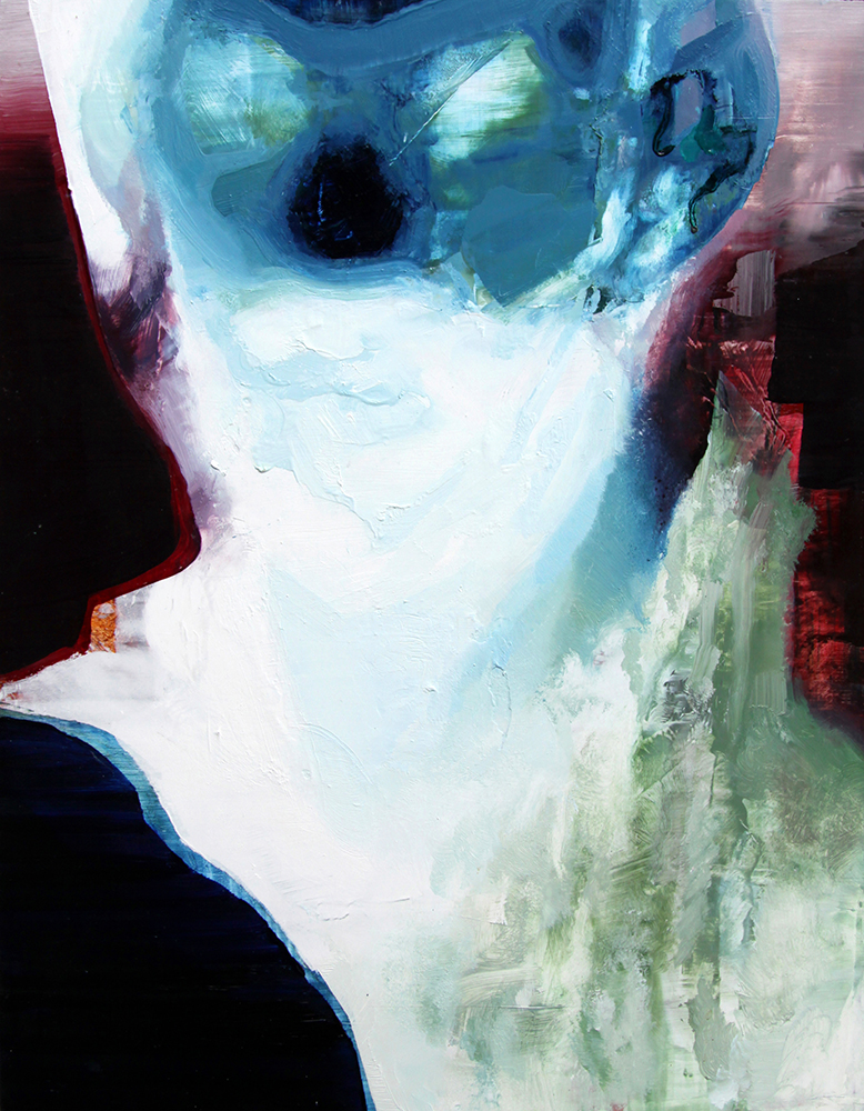 Tronie - Invert Head Oil on board, 18 x 14 inches