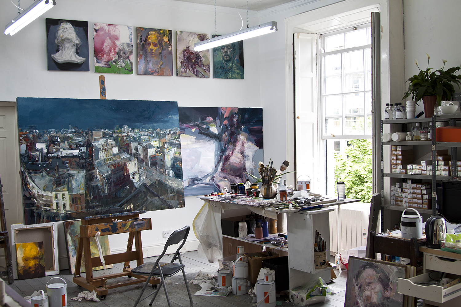 Studio, works in progress