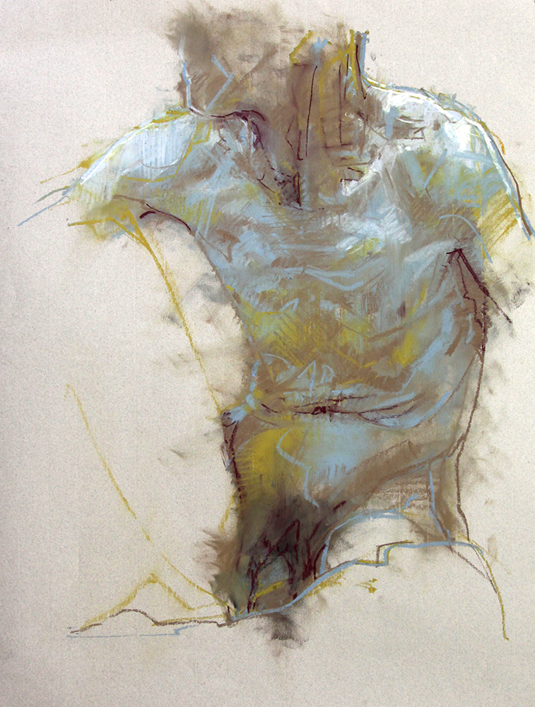 Torso chalk on paper , 29 x 21inches